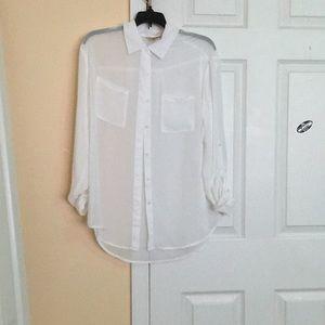 White see through shirt